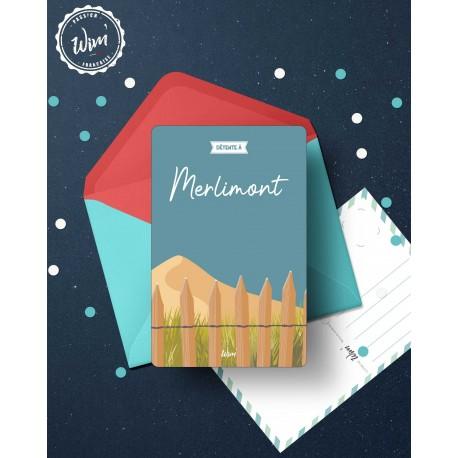 Merlimont - Détente - Carte postale