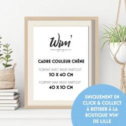 Cadre 40X50cm couleur chêne - Uniquement en Click & collect Boutique Lille