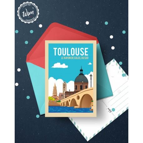 """Carte postale """"Toulouse : Le Soleil du sud"""""""