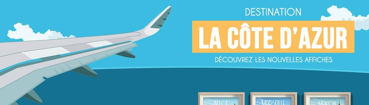Affiche de la Côte d'Azur